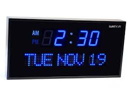 digital atomic wall clock large cushty
