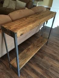 Sofa Table Diy Rustic Metal Leg Sofa Table Wayne Williams Wood Works