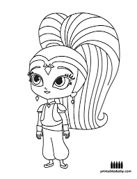 Shimmer And Shine Freebies Cartoon Coloring Pages Coloring
