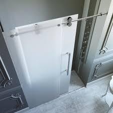 best frosted glass shower door v i g o 60 inch frameless sliding free screen enclosure wall melbourne