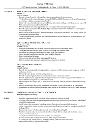 Healthcare Data Analyst Resume Samples | Velvet Jobs