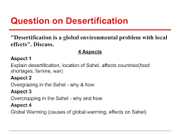 homework bantrygeography desertification question