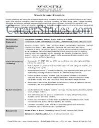school counselor resume  best resume sample