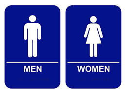 bathroom sign with arrow. Blue Ada Men Women Restroom Signs Set Custom Bathroom Sign With Arrow