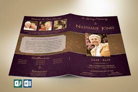 Royal Funeral Program Publisher Word Template 4 Pages