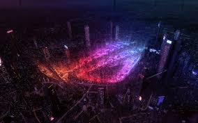 Republic of Gamers, 4k, neon rays, logo ...