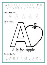 Letter Worksheets Alphabet Kindergarten Write Worksheet D Printable ...
