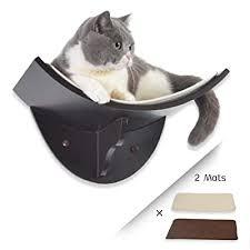 cat shelf curved wall mounted cat perch