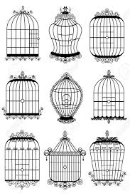 一連の異なるスタイルの鳥籠のイラスト