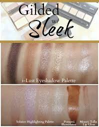 sleek makeup swatches