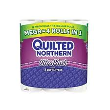 Bathroom Tissue Interesting Amazon Quilted NorthernR Ultra Plush 48Ply Bathroom Tissue