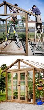 with double french doors and an operable window in the roof this greenhouse shed would be amazing as an office too