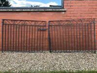 double iron gate for driveway