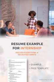 How To Write An Internship Resume How To Write A Resume For An Internship Position Freesumes