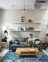 White Exposed Brick Wall A Budget Friendly Brownstone Renovation In Brooklyn A Well