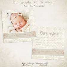 Photography Gift Certificates Templates Free Barca