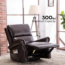 canmov breathable bonded leather swivel rocker recliner chair contemporary design single seat sofa manual recliner