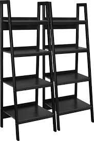 office furniture shelves. Amazon.com: Ameriwood Home Lawrence 4 Shelf Ladder Bookcase Bundle, Black: Kitchen \u0026 Dining Office Furniture Shelves