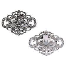 Silver Crown Designs Elegantpark Antique Silver Crown Design Rhinestones Wedding Party Decoration Shoe Clips