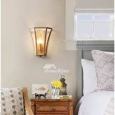 solid brass single wall sconce frosted