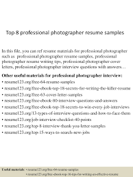 Comfortable Professional Photography Resume Examples Gallery Entry