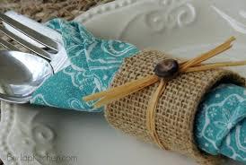 burlap napkin rings diy for beach wedding