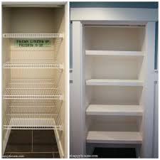 how to replace wire shelves with diy custom wood shelves the happy housie how to install custom closet