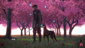 Anime Boy and Dog Wallpaper, HD Artist ...