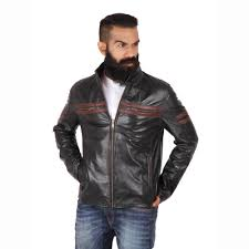 theo ash men s leather jackets motorcycle jacket classic brown jackets