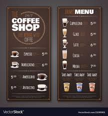 Design A Menu Free Coffee Shop Menu Design Template