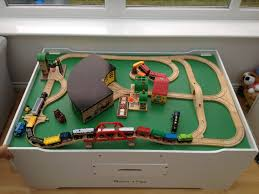 Train Set Table With Drawers Advanced Wooden Train Set Featuring Items From Brio 33208 Rail