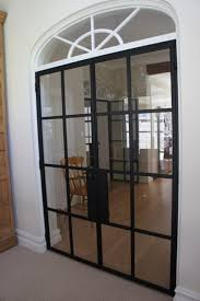 modern french doors elegant vintage styled design iron double door with arched transom window and using