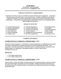 Estimator Project Manager Resume Project Manager Resume