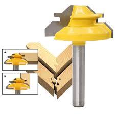 1Pc 45 Degree Lock Miter Router Bit <b>1</b>/<b>4 Inch Shank</b> Woodworking ...