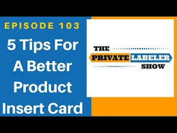 5 Tips For A Better Product Insert Card Amazon Fba 2018