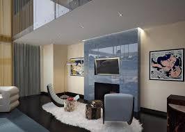 ultra modern interior design. Ultra Modern Stones Fireplace Luxury Interior Design