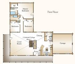the cheyenne is a beautiful one story log home floor plan that has 3 bedroom log