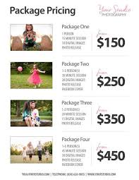 Pricing Templates For Services Price List Template Photography Pricing List Sell Sheet