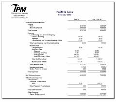 Year To Date Profit And Loss Statement Template Owners Sample Monthly Report Ipm Chico Property