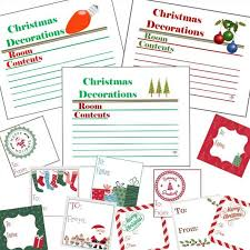 Christmas Labels Gift Tags Set