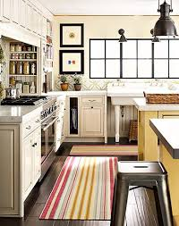 striped kitchen runner