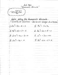 free collection of factoring quadratic equations worksheet