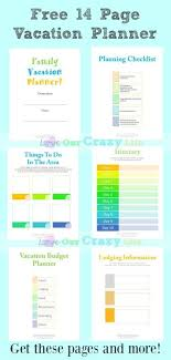 Free Travel Planner Family Vacation Planning Tips Free Planner Travel Pinterest