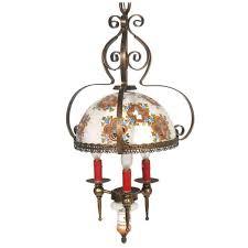 hand painted bassano chandelier 1950s