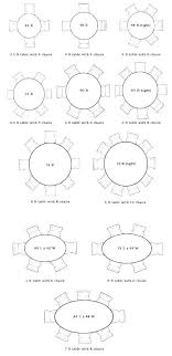 8 dining table dimensions round measurements height mm
