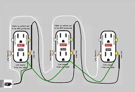 how to wire an outlet in series diagram wirdig you certainly do not need two cords gfcis can be wired in parallel on