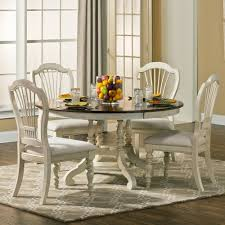 pine island wood round dining table in old white dark pine