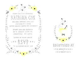Registry Card Template Free Wedding New Baby Shower