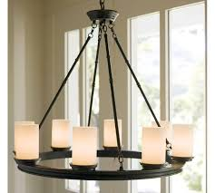 brings a soothing influence to living spaces with pillar candle chandelier