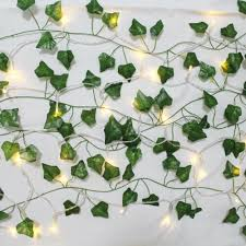 room decor fake ivy leaves with lights